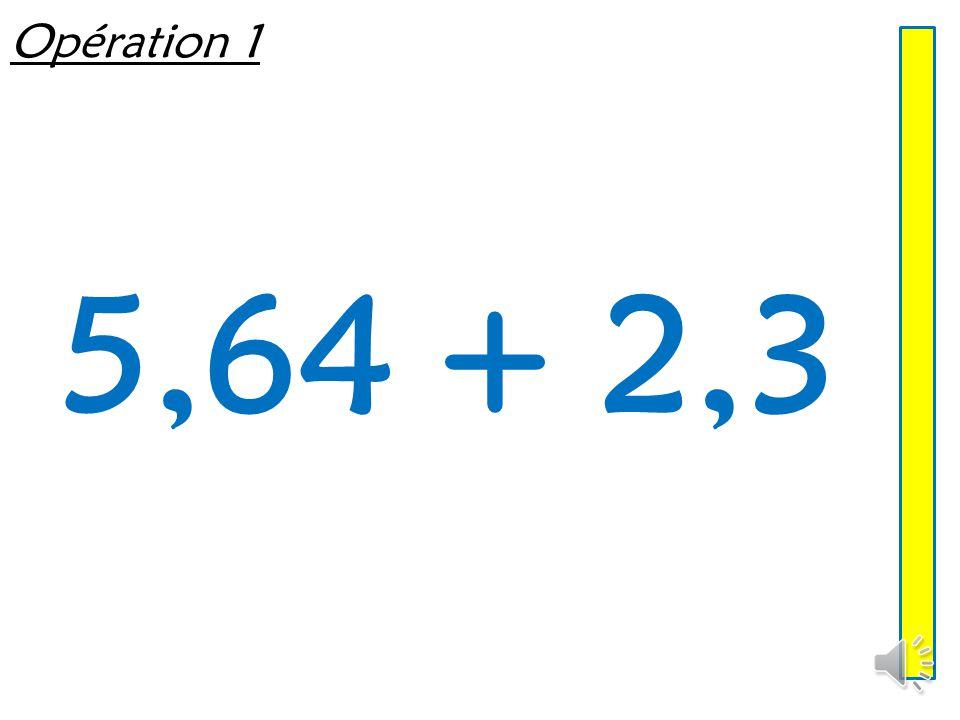 Addition de décimaux Mathématiques – Calcul mental  Entraînement n° 6