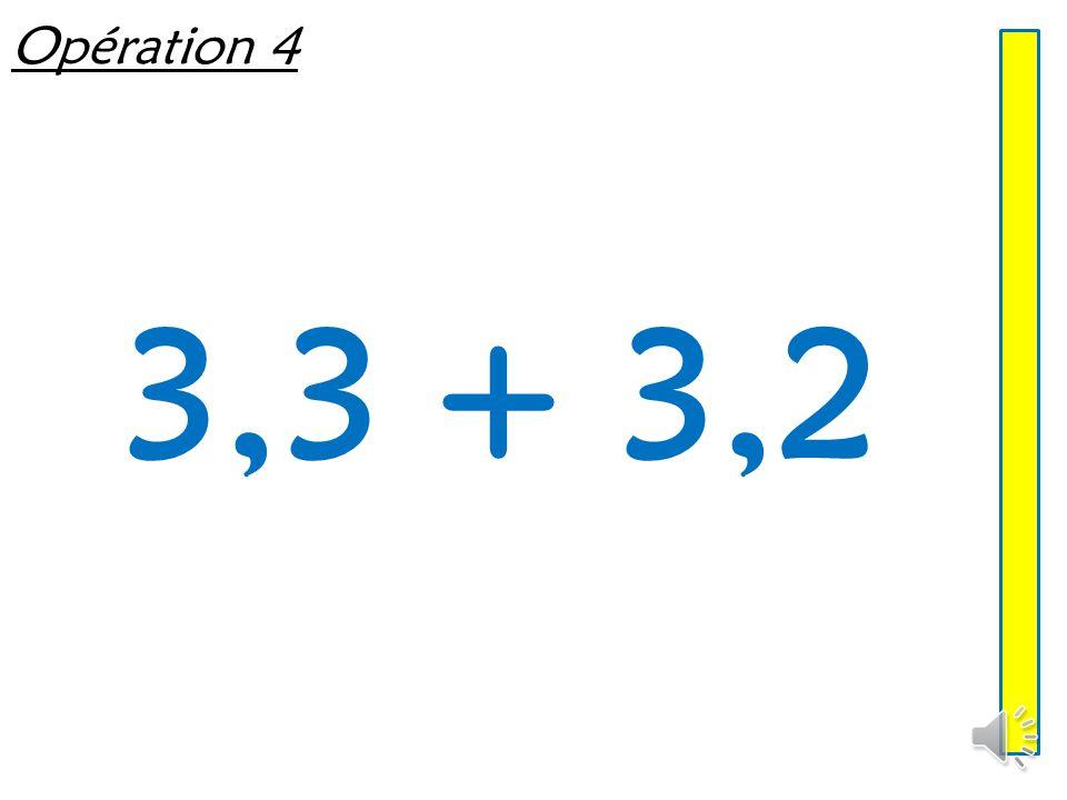 Opération 3 8 + 4,36