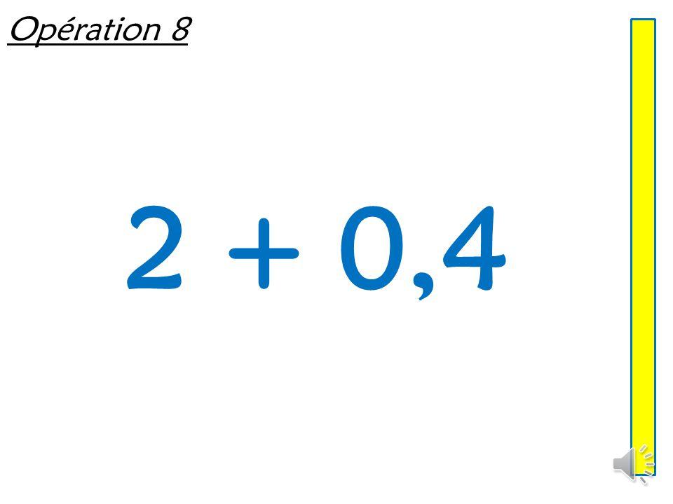 Opération 7 5,8 + 4,8