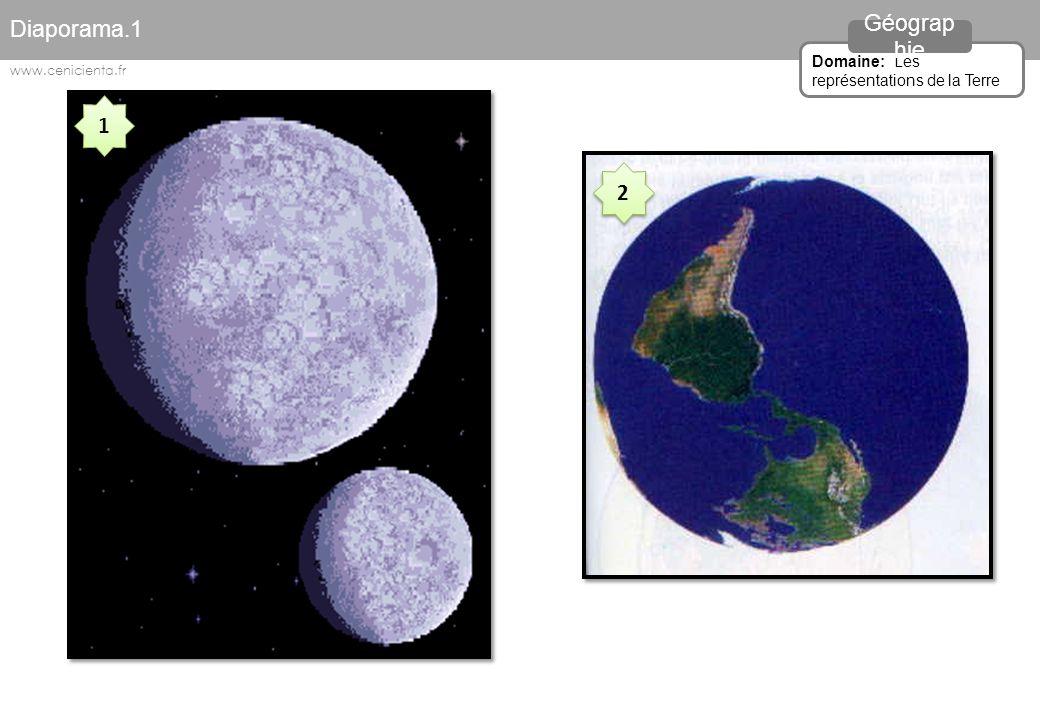 1 1 2 2 Diaporama.1 Domaine: Les représentations de la Terre Géograp hie www.cenicienta.fr