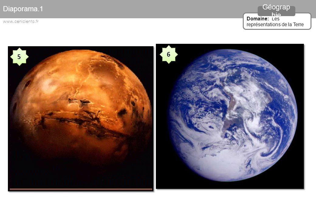 5 5 6 6 Diaporama.1 Domaine: Les représentations de la Terre Géograp hie www.cenicienta.fr