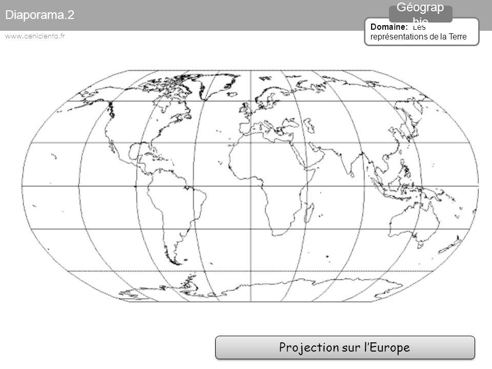 Projection sur l'Arctique Diaporama.2 Domaine: Les représentations de la Terre Géograp hie www.cenicienta.fr