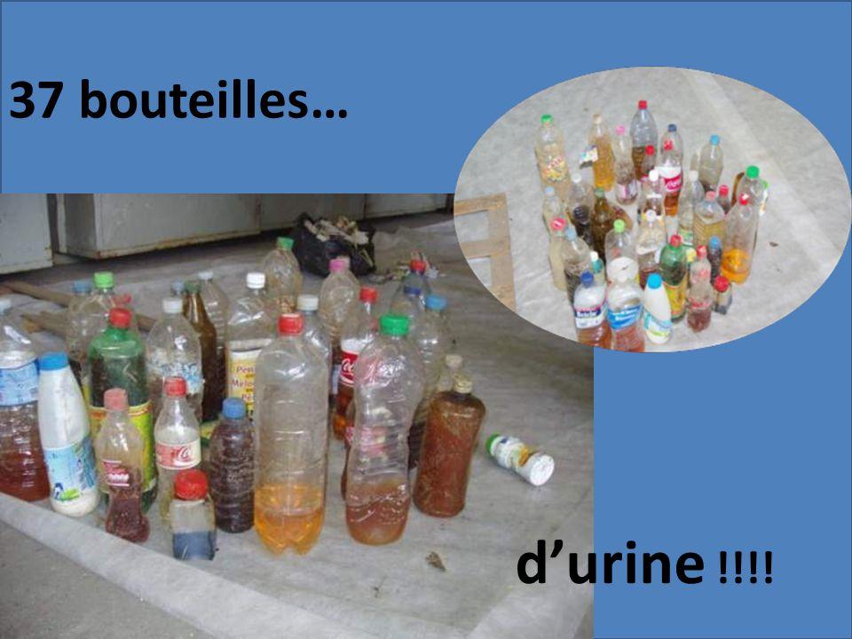 37 bouteilles… d'urine !!!!