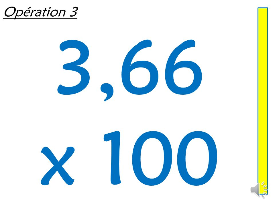 Opération 2 5,096 x 100