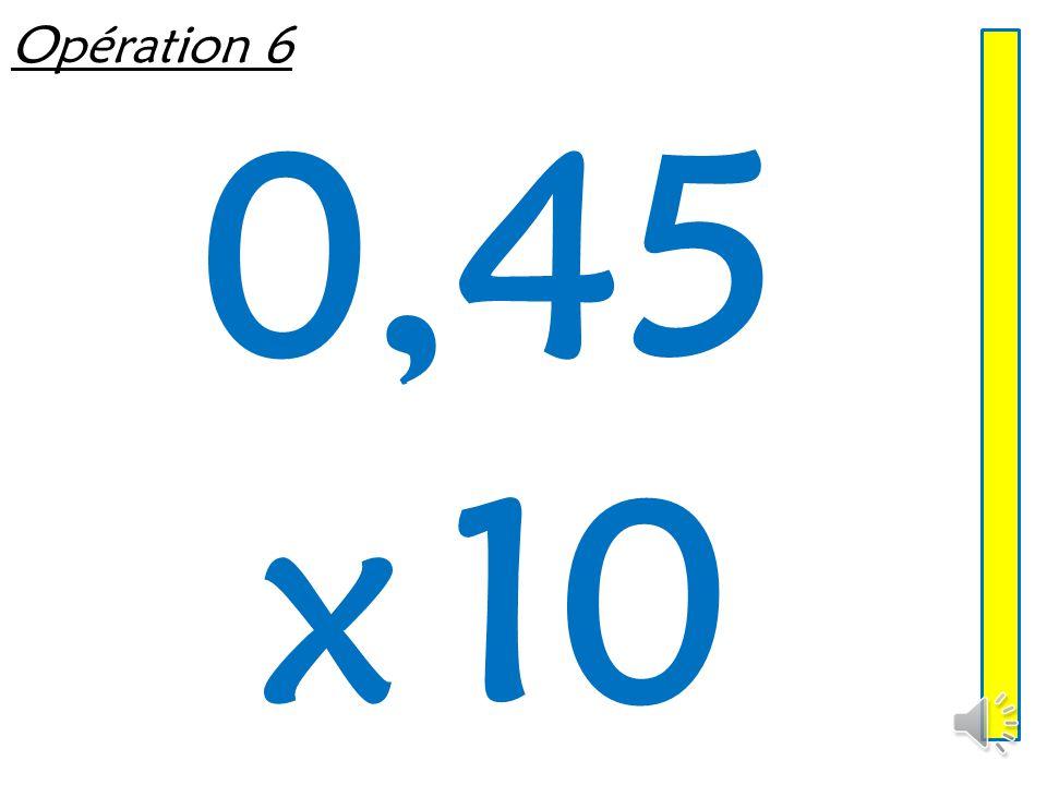 Opération 5 9,7 x 1000