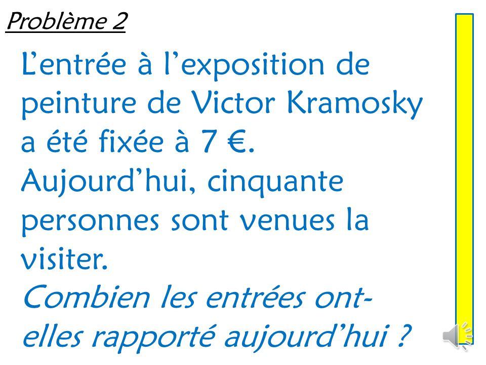 Problème 1 Ludovic souhaite repeindre son salon. Il achète cinq pots couvrant chacun 12 m². Quelle surface peut-il peindre avec ses pots ?