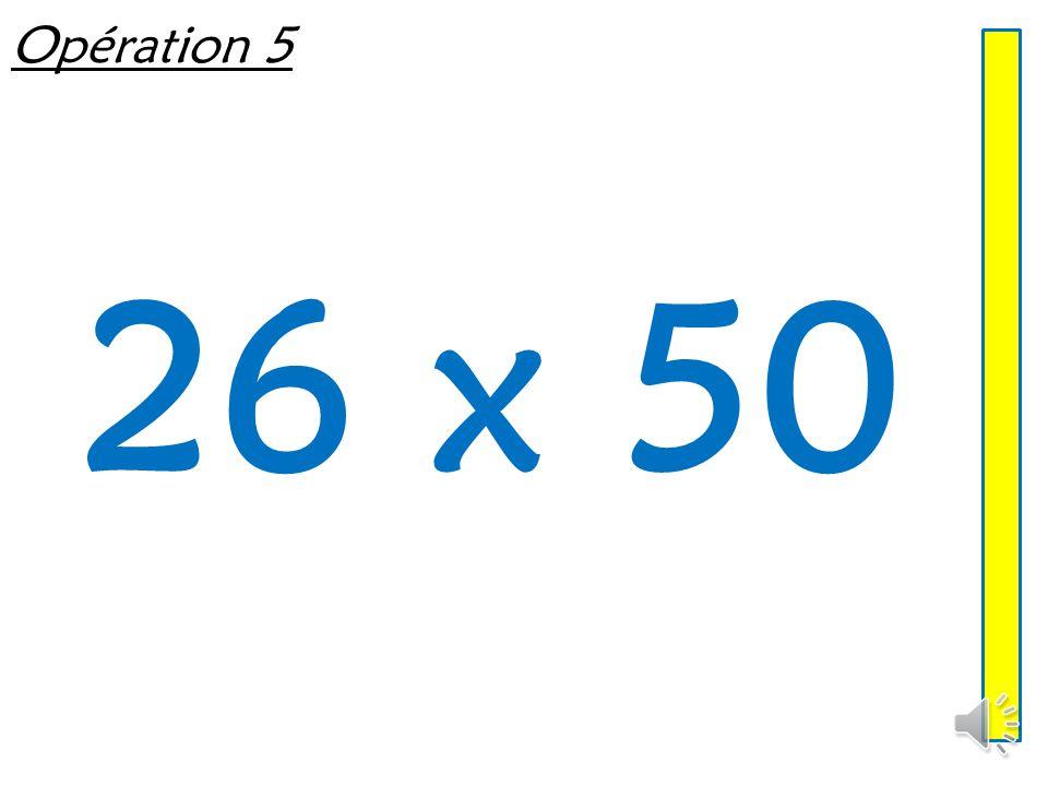 Opération 4 21 x 5