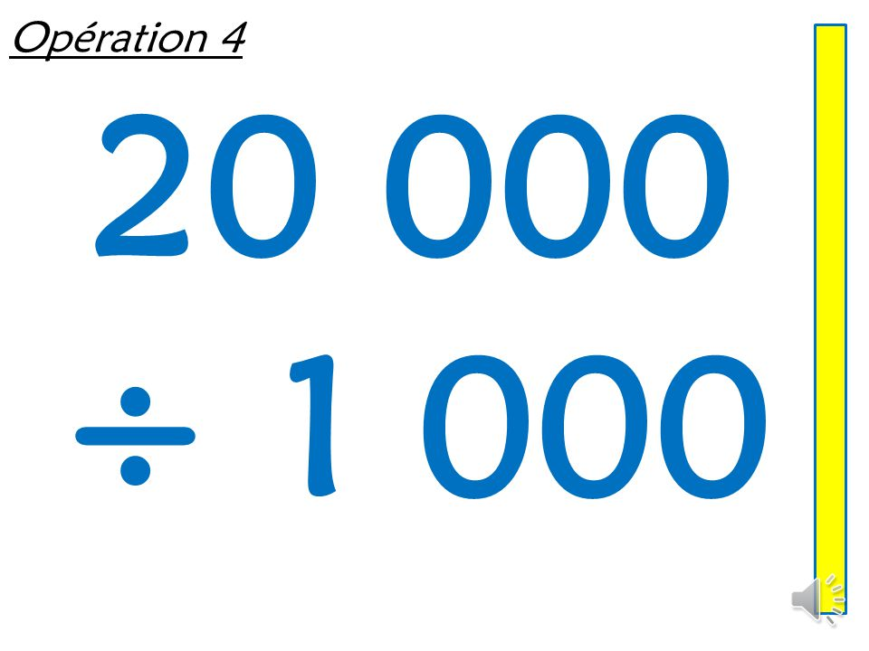 Opération 3 5 407 x 10
