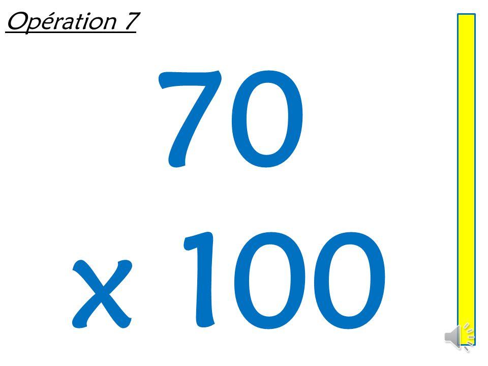 Opération 6 7 050 ÷ 10