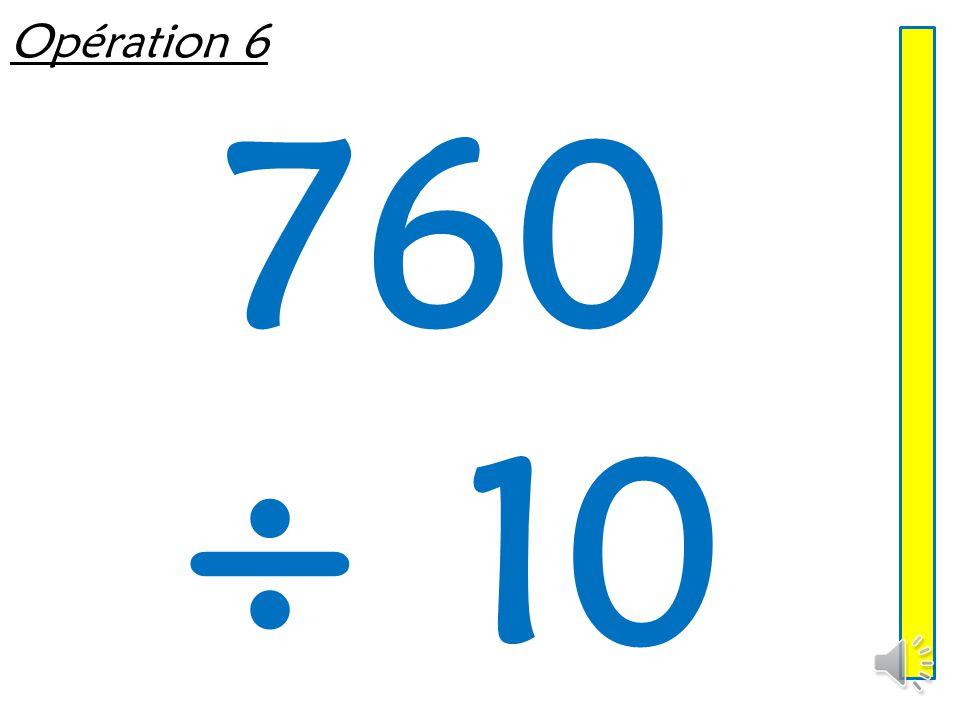 Opération 5 500 ÷ 100