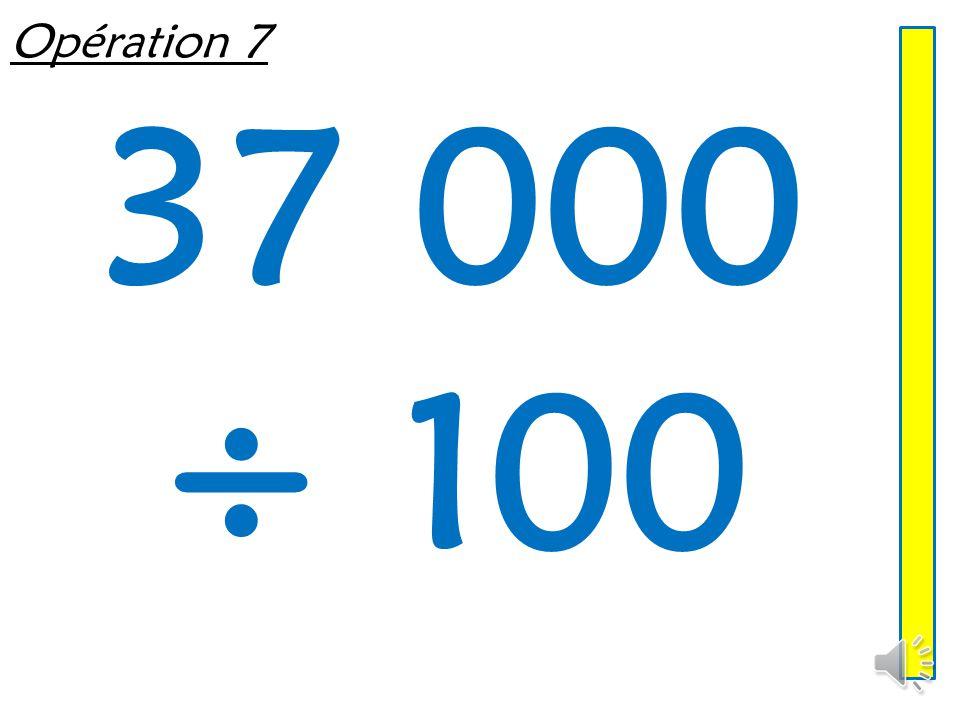 Opération 6 760 ÷ 10