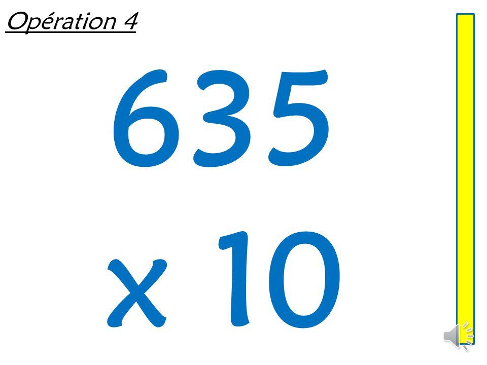 Opération 4 635 x 10
