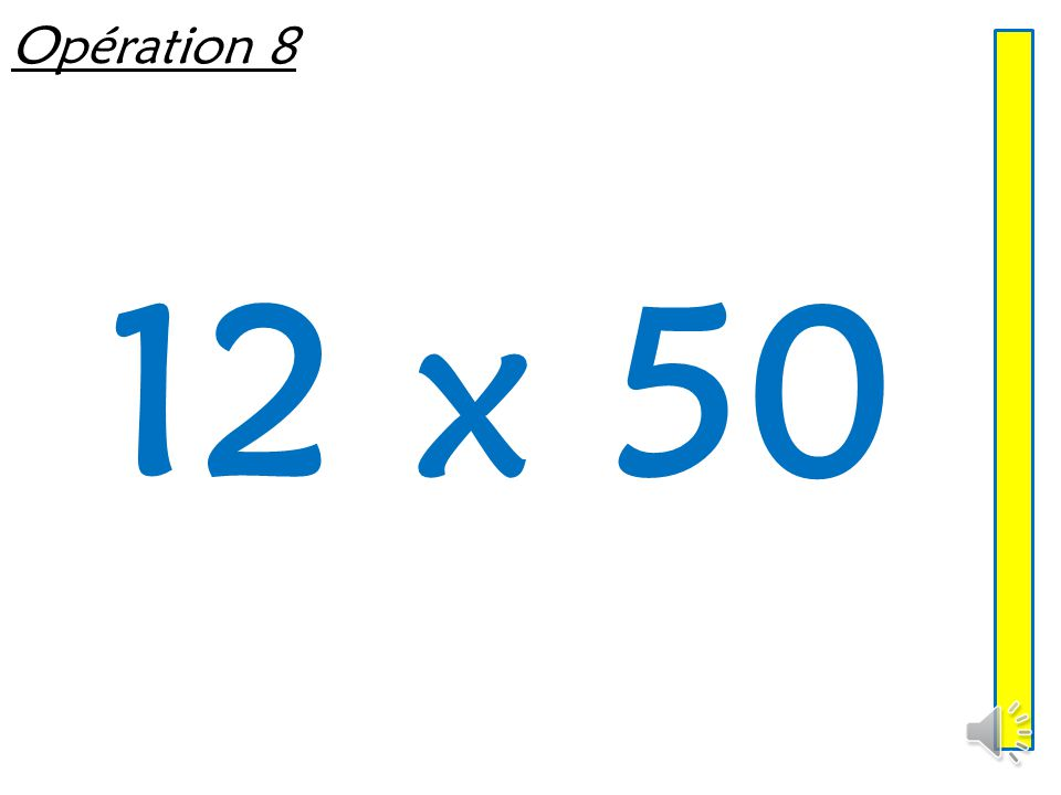 Opération 8 12 x 50
