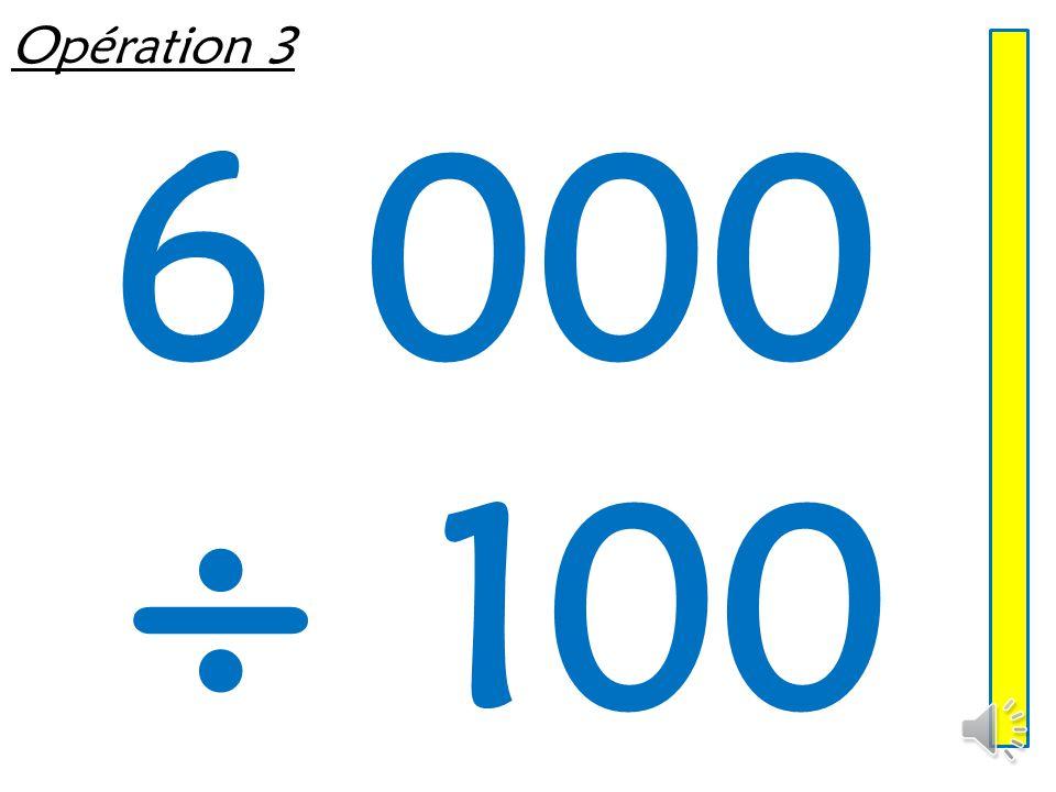 Opération 2 960 ÷ 10
