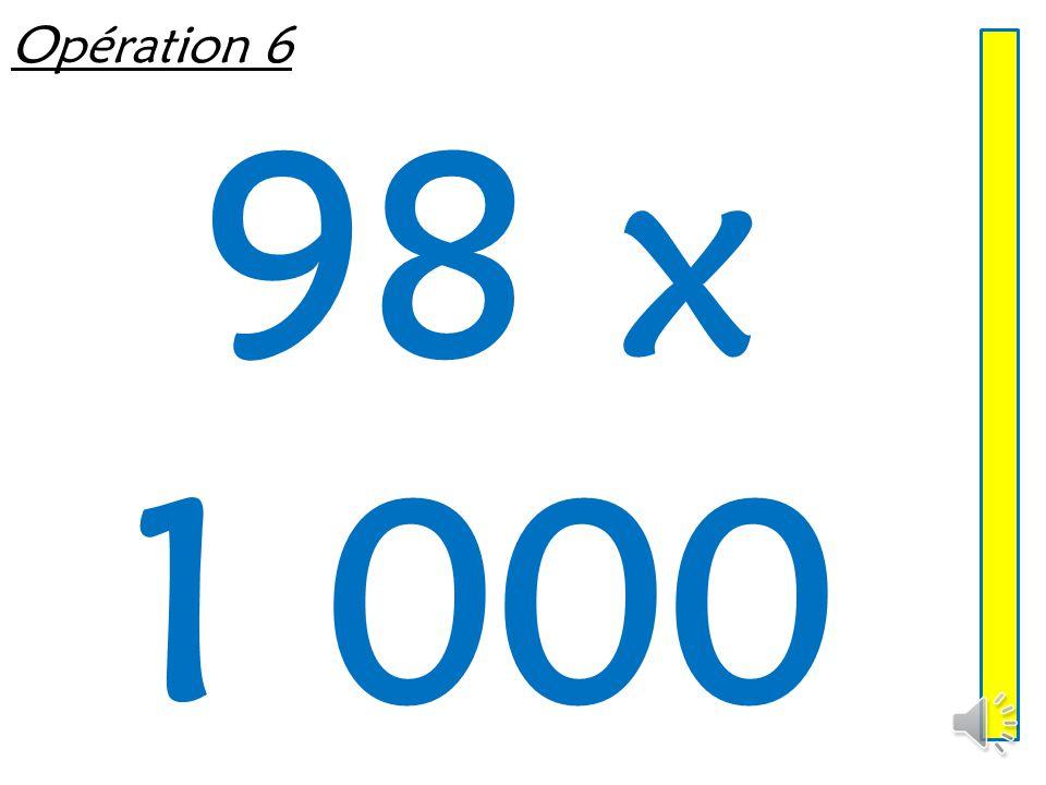 Opération 5 601 x 10