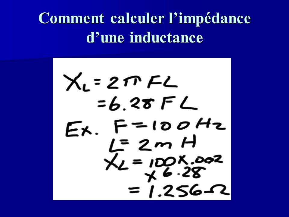 Comment calculer l'impédance d'une inductance