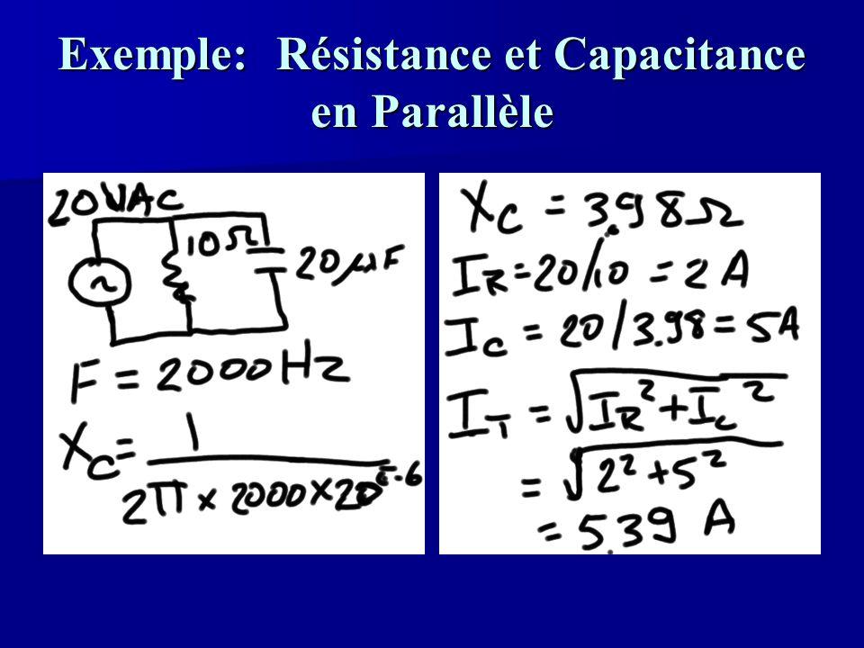 Exemple: Résistance et Capacitance en Parallèle