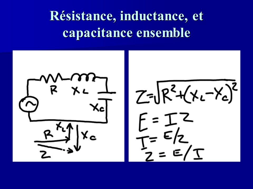 Résistance, inductance, et capacitance ensemble