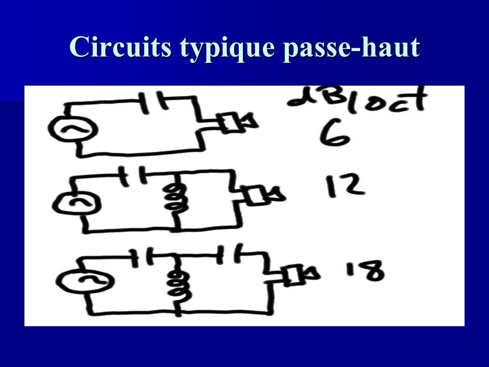 Circuits typique passe-haut