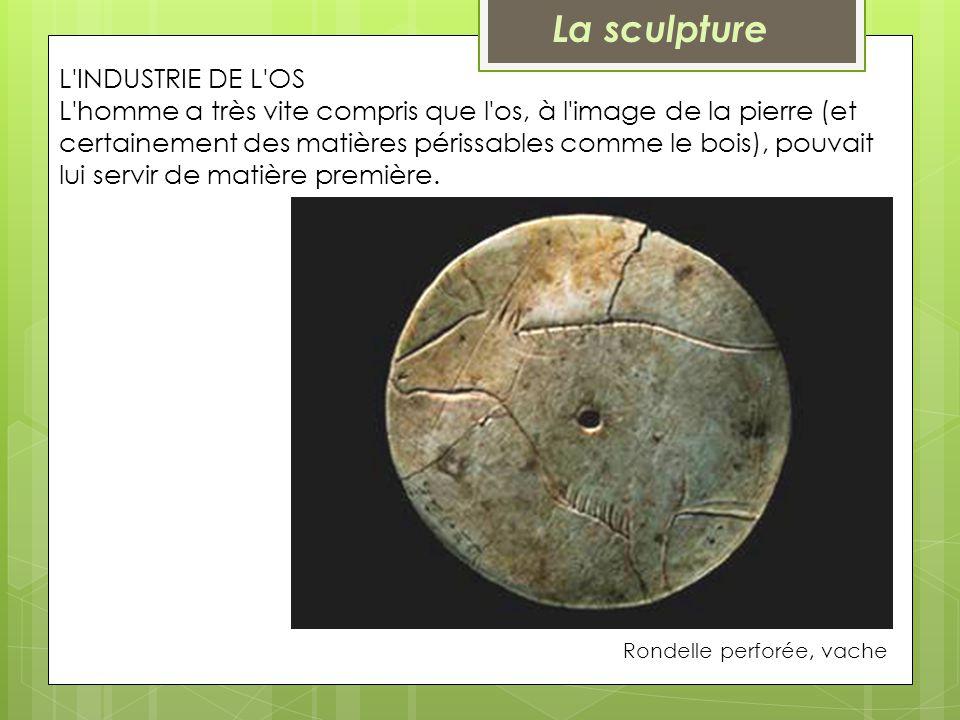 L'INDUSTRIE DE L'OS L'homme a très vite compris que l'os, à l'image de la pierre (et certainement des matières périssables comme le bois), pouvait lui