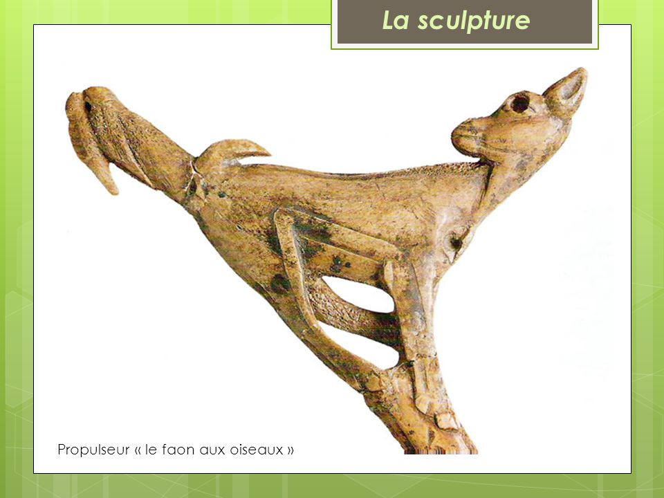 Propulseur « le faon aux oiseaux » La sculpture