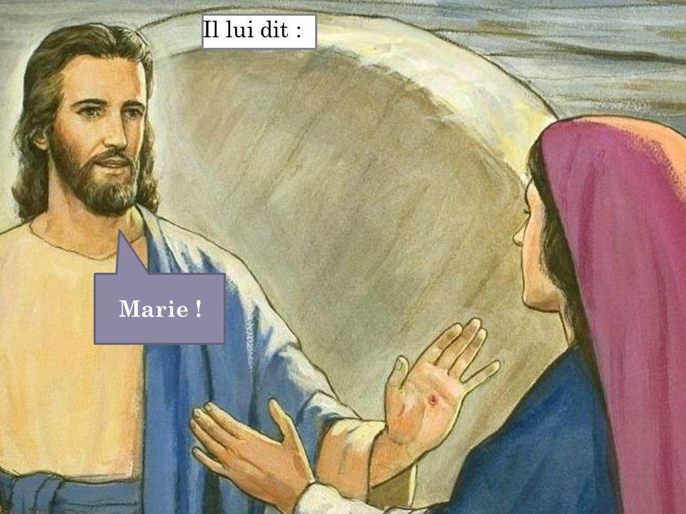 Marie ! Il lui dit :