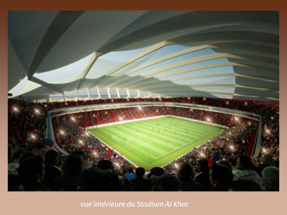 le Stade Al Khor Stadium en forme de coquillage