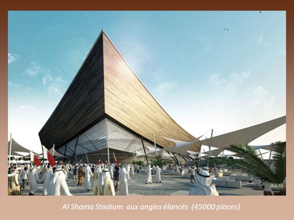 Al Rayyan Stadium en cours d'agrandissement pour 44000 spectateurs et, écran géant dans l'enceinte.