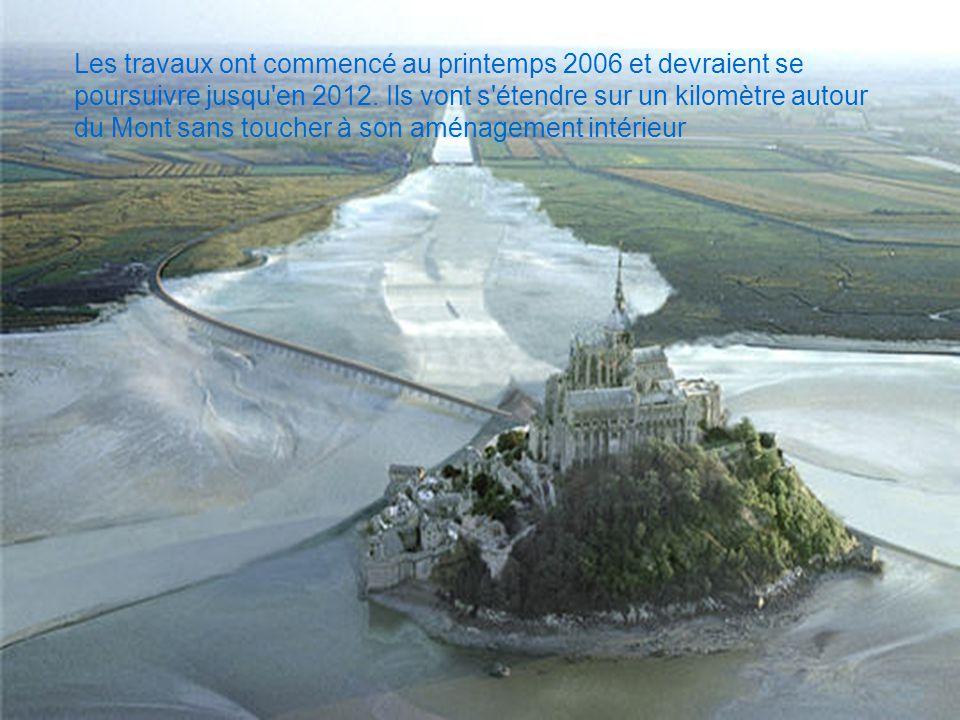 Les travaux ont commencé au printemps 2006 et devraient se poursuivre jusqu'en 2012. Ils vont s'étendre sur un kilomètre autour du Mont sans toucher à