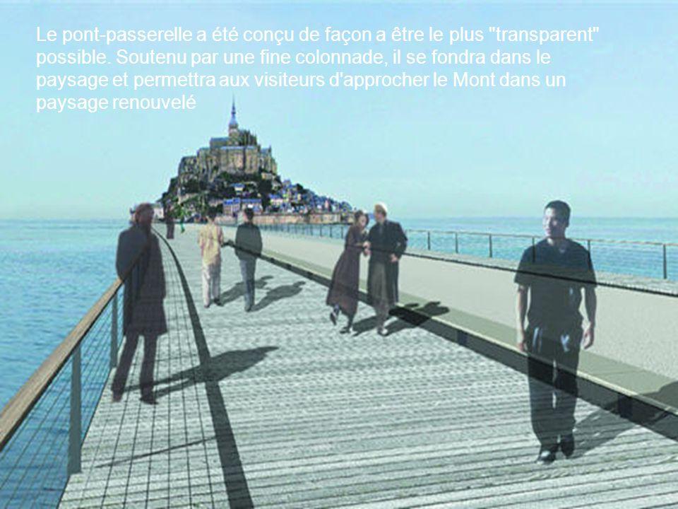 Le pont-passerelle a été conçu de façon a être le plus