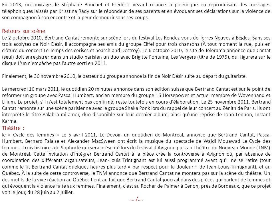 La mère de la victime, Nadine Trintignant, s est opposée à cette libération par l envoi d une longue lettre au juge d application des peines, ainsi qu au Figaro, dans laquelle elle déplore « un signal négatif » donné à l opinion publique en matière de violences faites aux femmes.