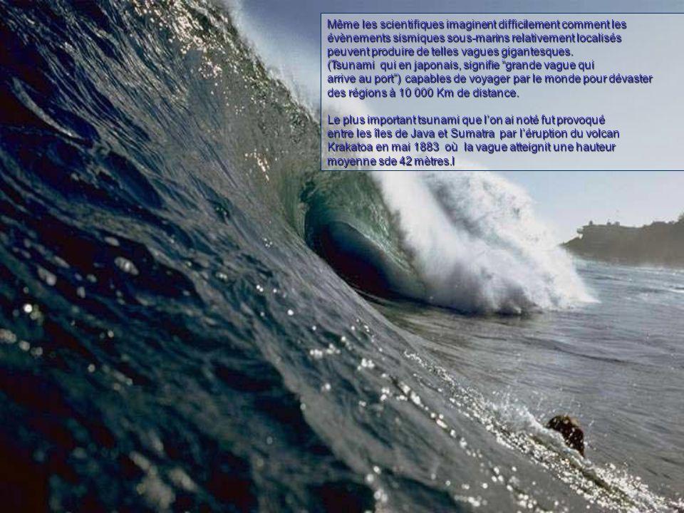 Même les scientifiques imaginent difficilement comment les évènements sismiques sous-marins relativement localisés peuvent produire de telles vagues gigantesques.