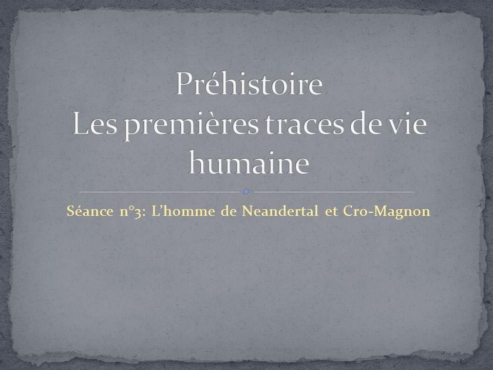 Séance n°3: L'homme de Neandertal et Cro-Magnon