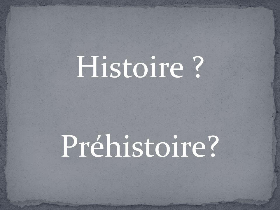 Histoire ? Préhistoire?