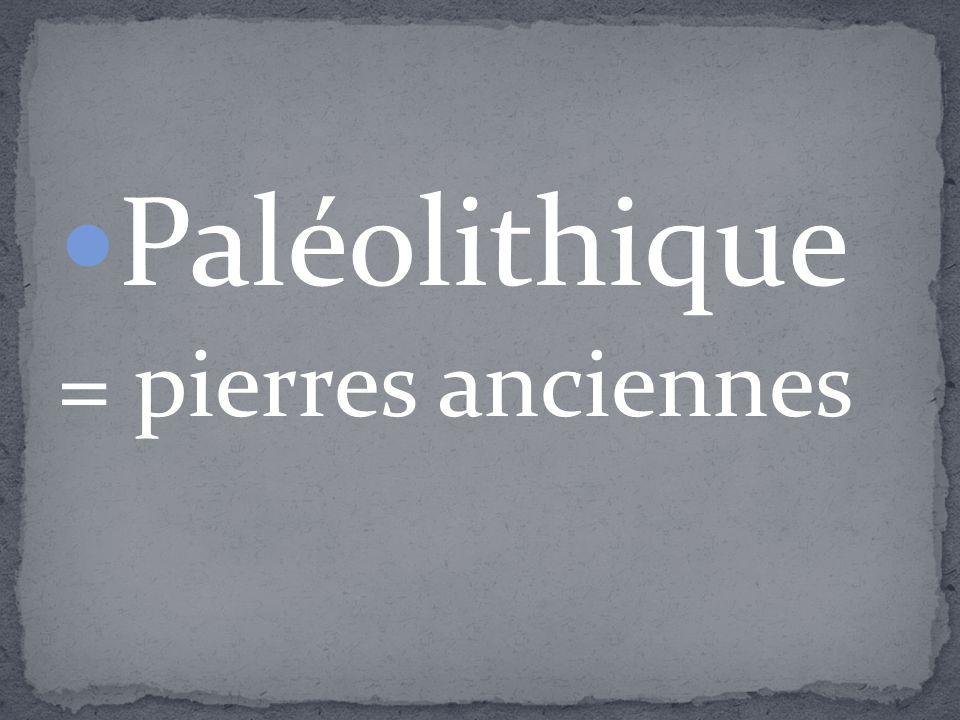 Paléolithique = pierres anciennes