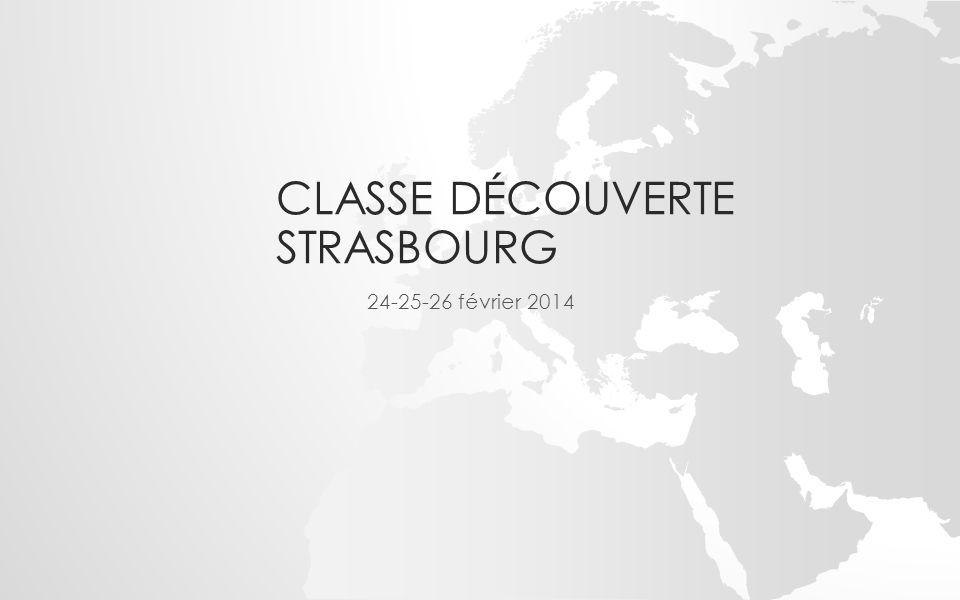 CLASSE DÉCOUVERTE STRASBOURG 24-25-26 février 2014