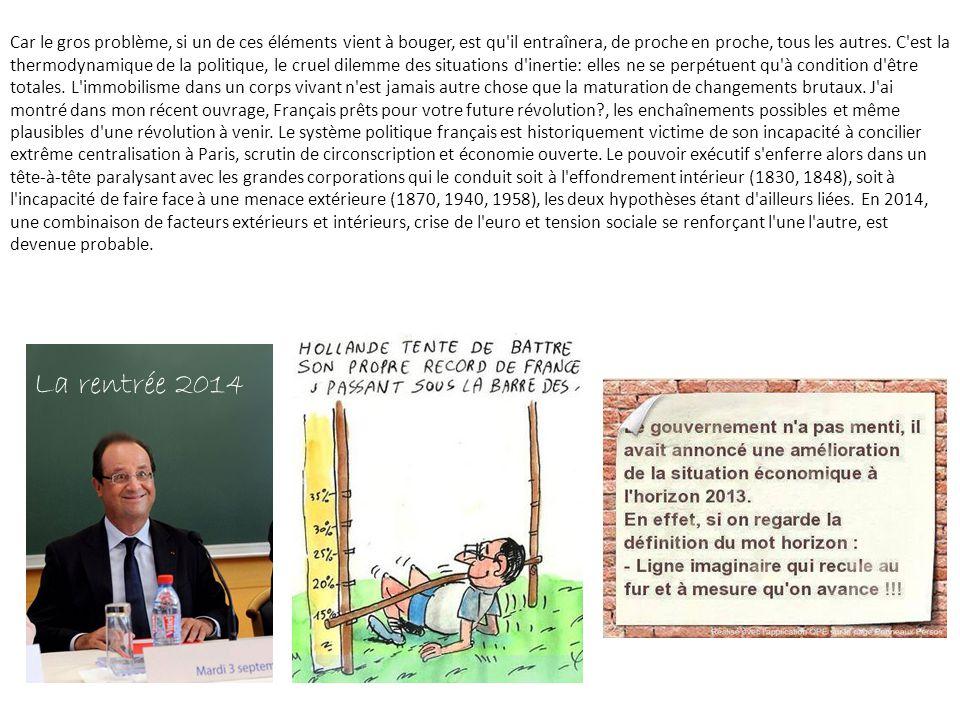 Pour durer, il faudra que l'UMP continue de se ridiculiser en combats intestins, qu'aucune réforme sociétale ne ressoude la Manif pour tous, que les «