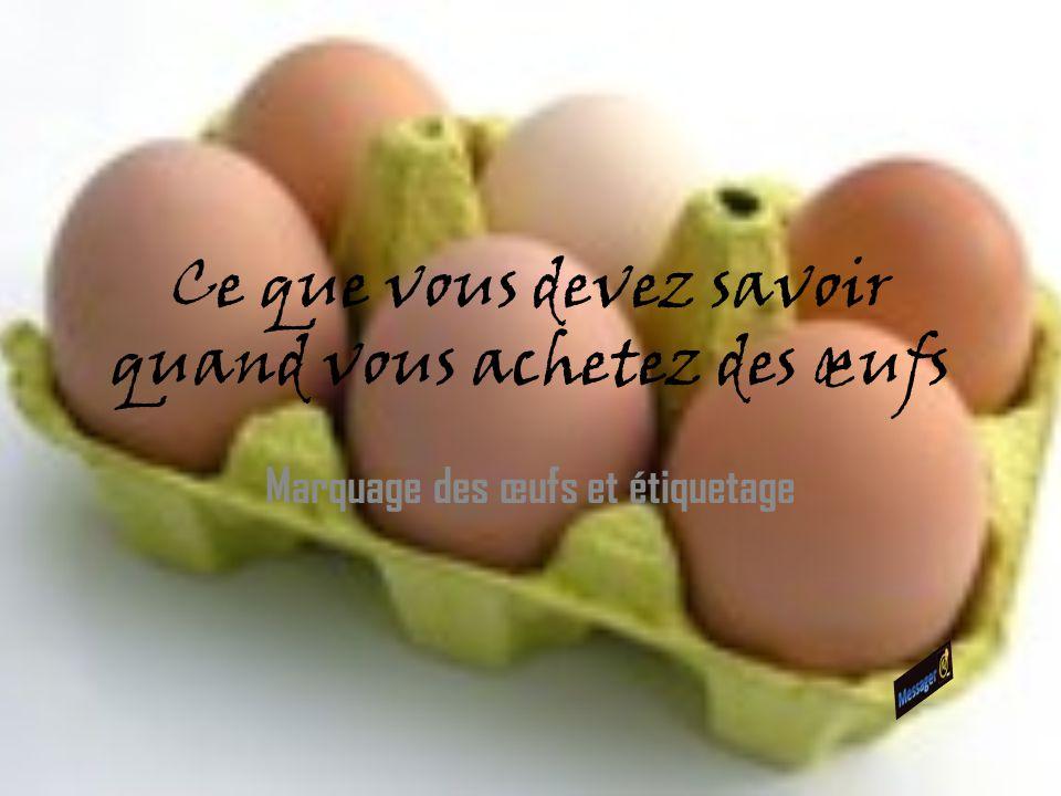 Ce que vous devez savoir quand vous achetez des œufs Marquage des œufs et étiquetage