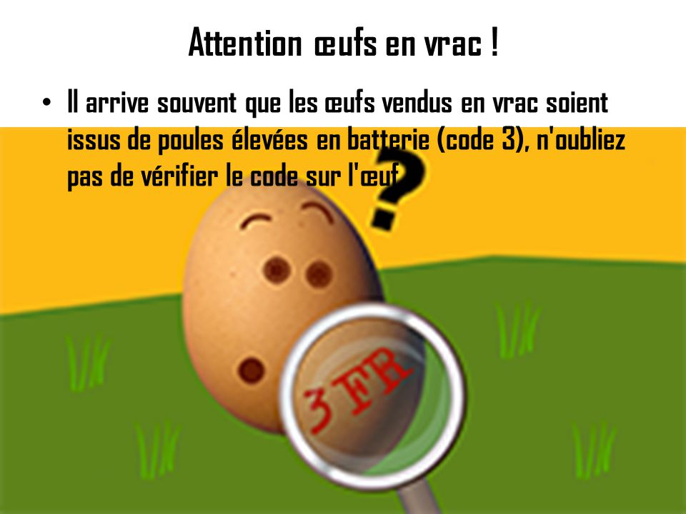 Attention œufs cachés .