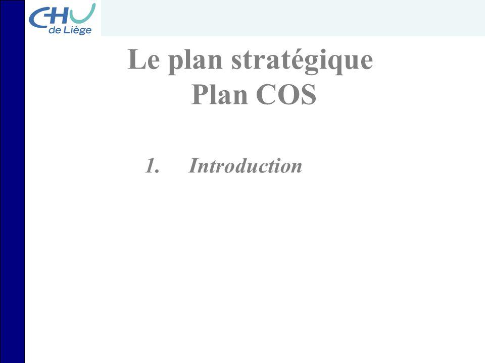 Plan COS OBJECTIF: Offrir des soins de la plus haute qualité universitaire accessibles à tous, tout en assurant la pérennité financière de l'Institution AXE PATIENT AXE APPR.