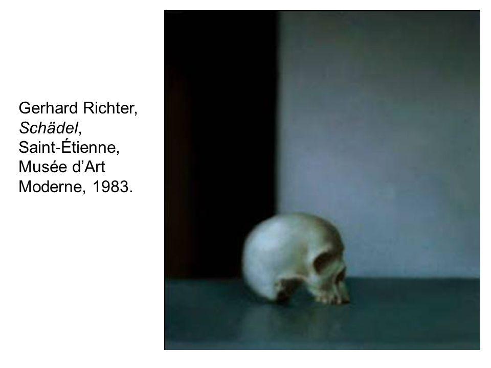 Gerhard Richter, Schädel, Saint-Étienne, Musée d'Art Moderne, 1983.