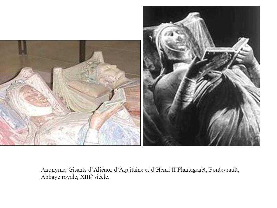 Anonyme, Gisants d'Aliénor d'Aquitaine et d'Henri II Plantagenêt, Fontevrault, Abbaye royale, XIII° siècle.