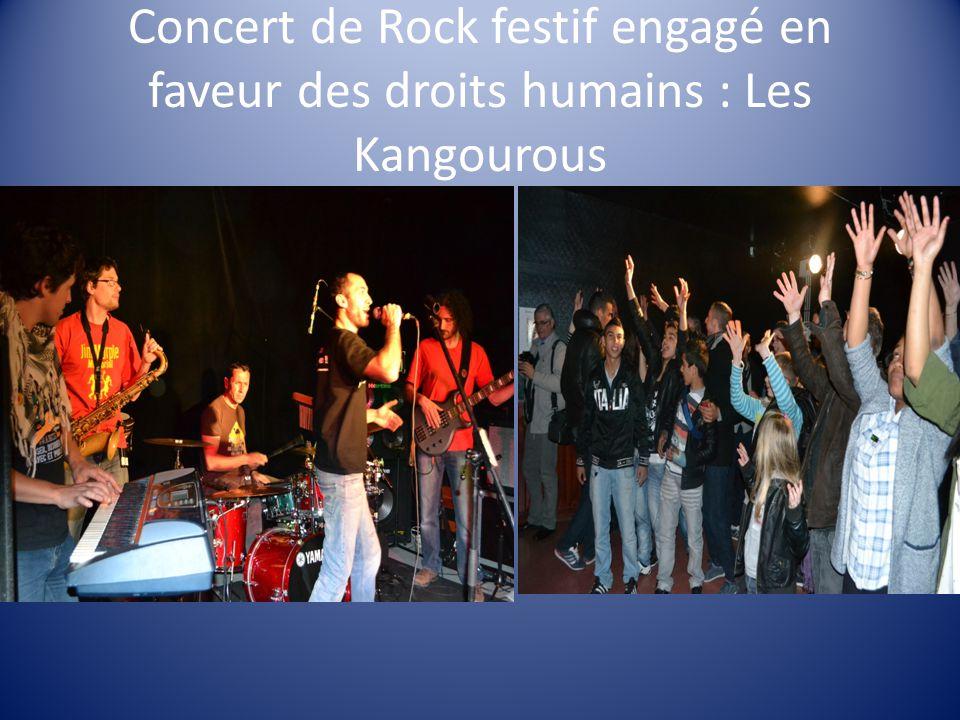 Concert de Rock festif engagé en faveur des droits humains : Les Kangourous