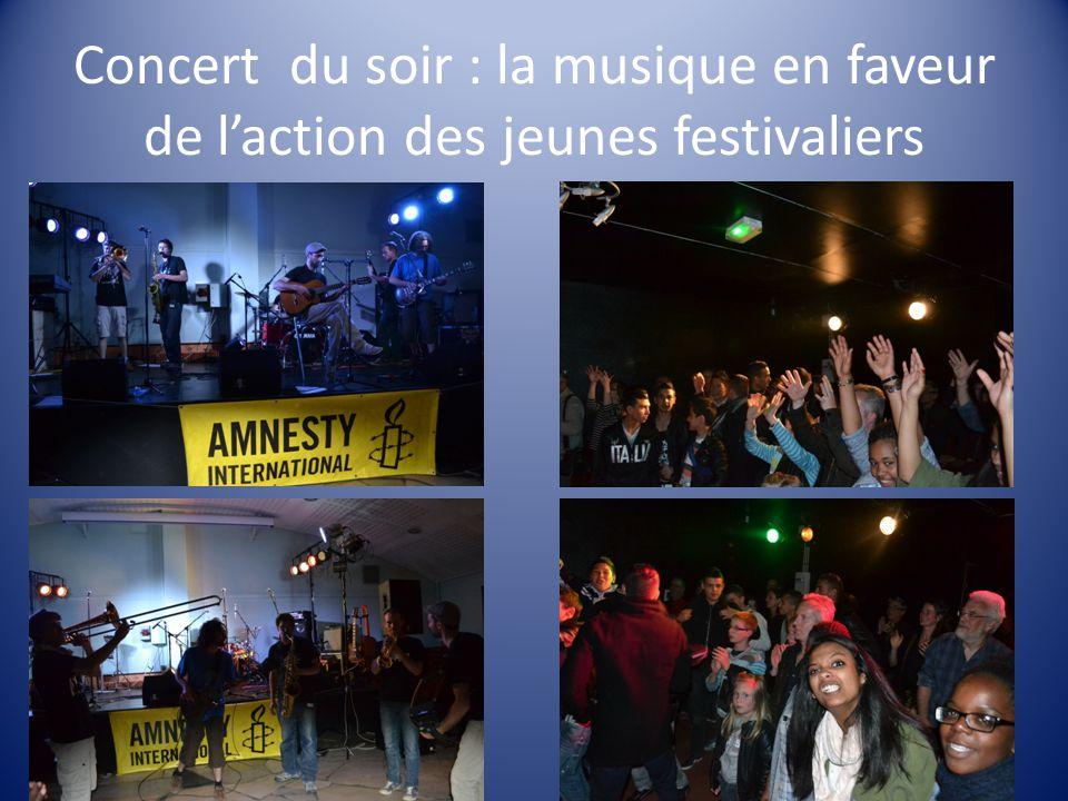 Concert du soir : la musique en faveur de l'action des jeunes festivaliers