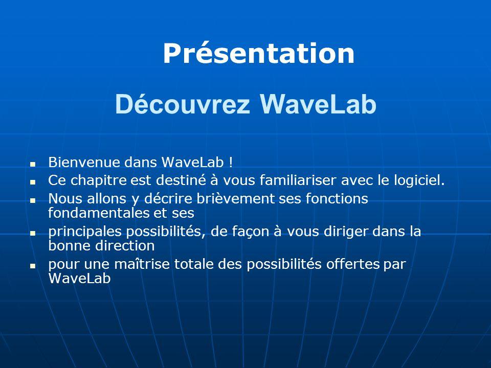 Découvrez WaveLab Bienvenue dans WaveLab .