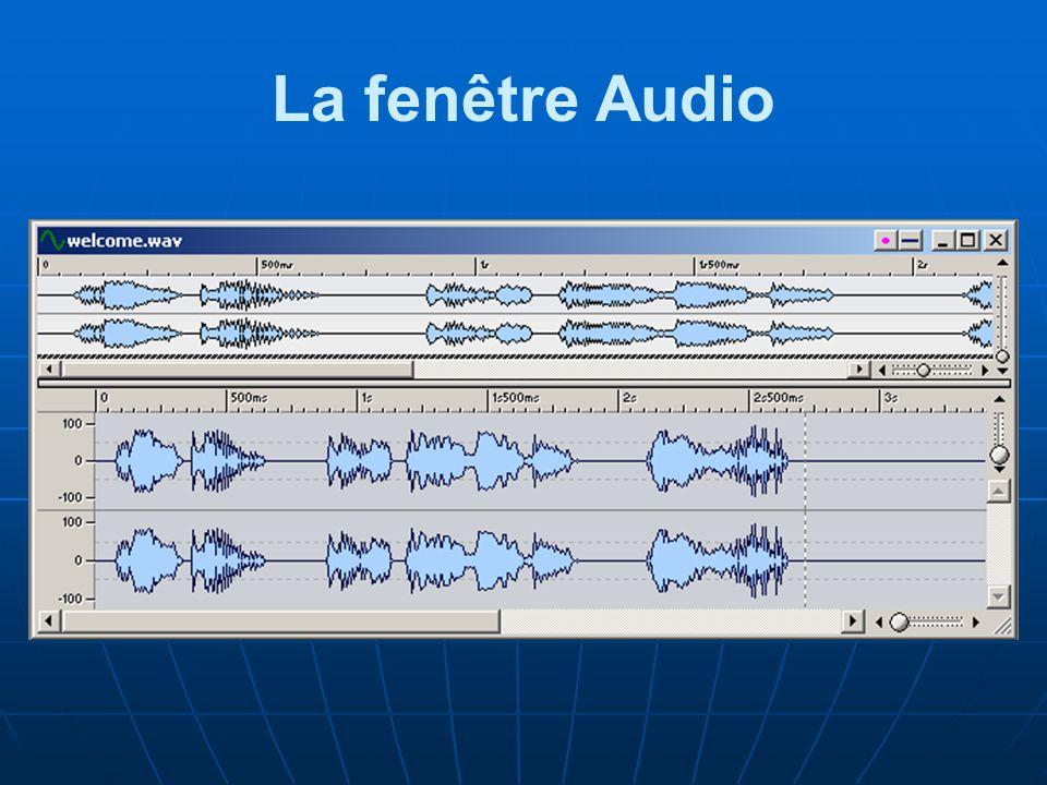 La fenêtre Audio