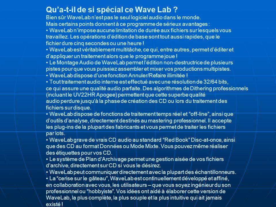Qu'a-t-il de si spécial ce Wave Lab .