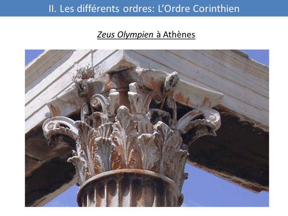 Zeus Olympien à Athènes II. Les différents ordres: L'Ordre Corinthien