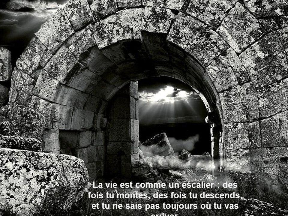 Chaque difficulté de la vie est comme un long tunnel noir.