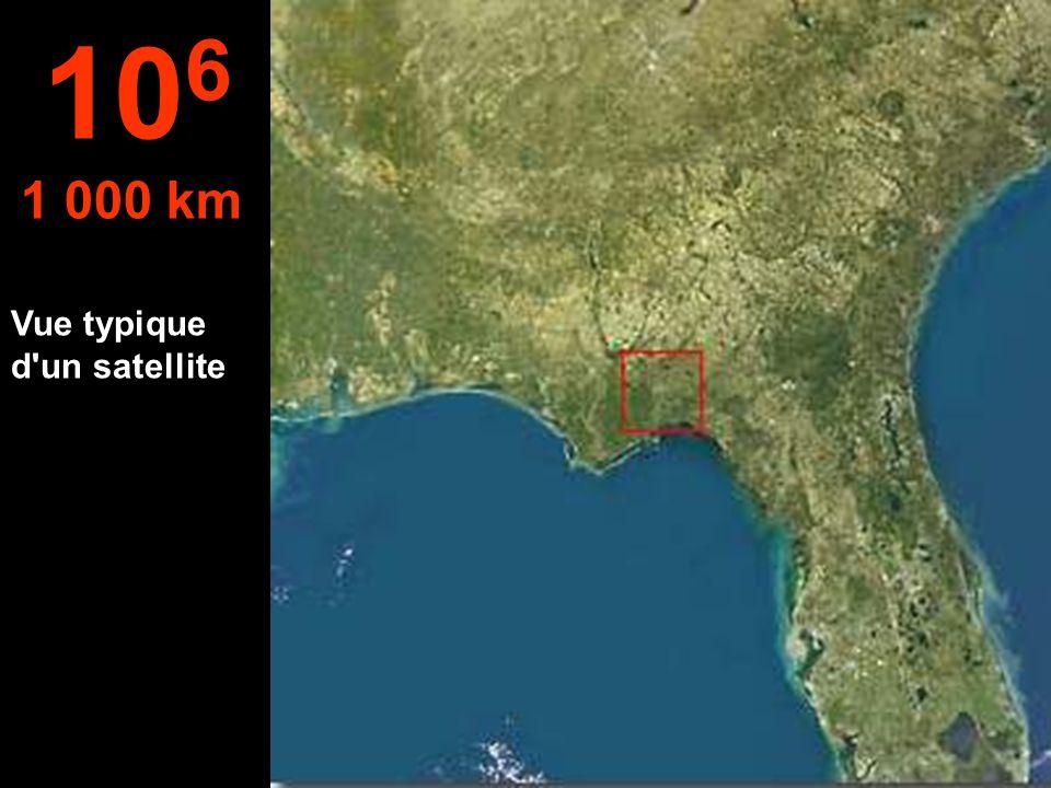 À cette hauteur, on peut voir l'état de Floride aux États-Unis. 10 5 100 km